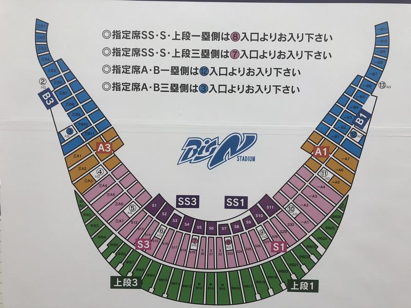 長崎ビッグNスタジアム 座席表