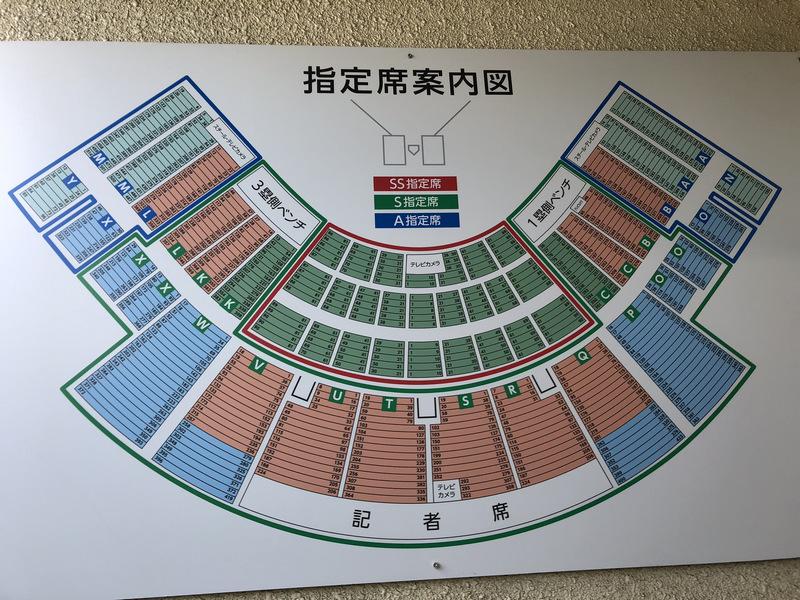 北九州市民球場座席-指定席案内図